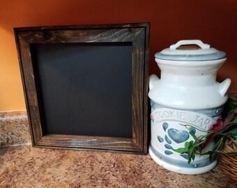 Small Chalkboard 13 x 13,  Menu board,  Rustic Home Decor,kitchen chalkboard, reclaimed wood ,  chalkboard sign,  wedding chalkboard sign.