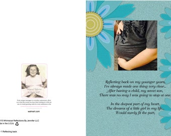 BABY 1 Reflecting Back Greeting Card, Baby Shower Card,