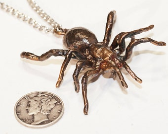 Tarantula Pendant - Tarantula Necklace - Spider Jewelry