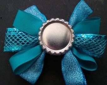 Blue Themed, Bottle Cap Hair Bow