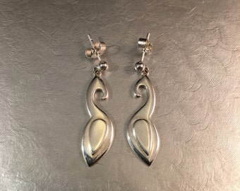 Bronze Age inspired sterling silver earrings.