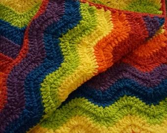 Rainbow Chivvon Baby Blanket