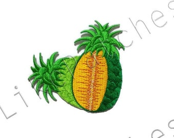 Pineapple Fruit / Green Pineapple - New Sew / Iron On Patch Embroidered Applique Size 8cm.x7.5cm.