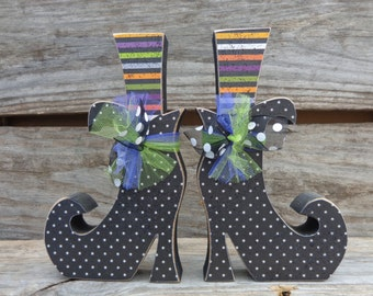 Fall Decor-Halloween Decor-Witch Decor-Witches boots set of 2