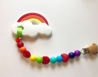 Chompy Heart Paci Clip with Teether