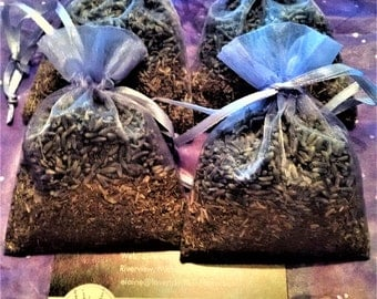 Four Balsam sachets or  Four Balsam-Lavender or Mix two of each kind. Oganza Sachets.  Wedding & Shower Favors Closet sachets Moth repellent