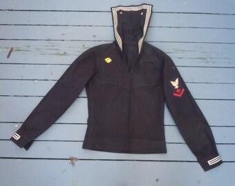 Size S (40) ** Rare World War Two Naval Shirt