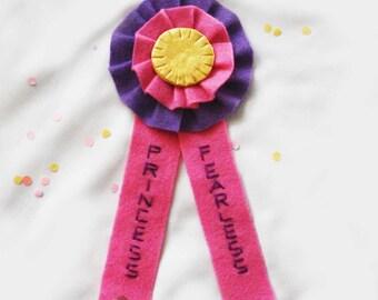 Fearless Princess - Award ribbon / Prize ribbon / Rosette
