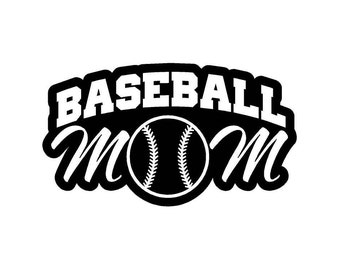 Baseball Mom Car Decal w/Baseball