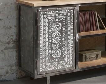 JAIPUR Indian Inlay Furniture Floor Craft Stencil - JAIP01