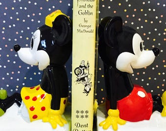 Vintage Mickey Mouse & Minnie Mouse DISNEY Bookends