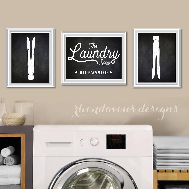 Laundry Room Help Wanted Sign Laundry Room Art Printfarmhouse Decorlaundry Room Sign