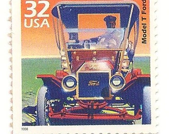 10 Unused 1998 - Model T Ford - Tin Lizzie - Postage Stamps Number 3182a