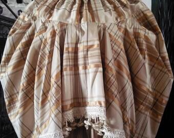 Handmade women's puff skirt / vintage inspired skirt / gold skirt / gypsy skirt/ boho skirt/ cottage chic skirt/fairy skirt