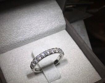Wedding Ring 14k White Gold Wedding Band - 0.75 Carat Weight F Vs Diamonds #j99930  FREE SHIPPING