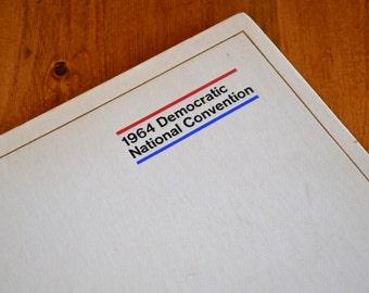 1964 Democratic Convention Book/Program