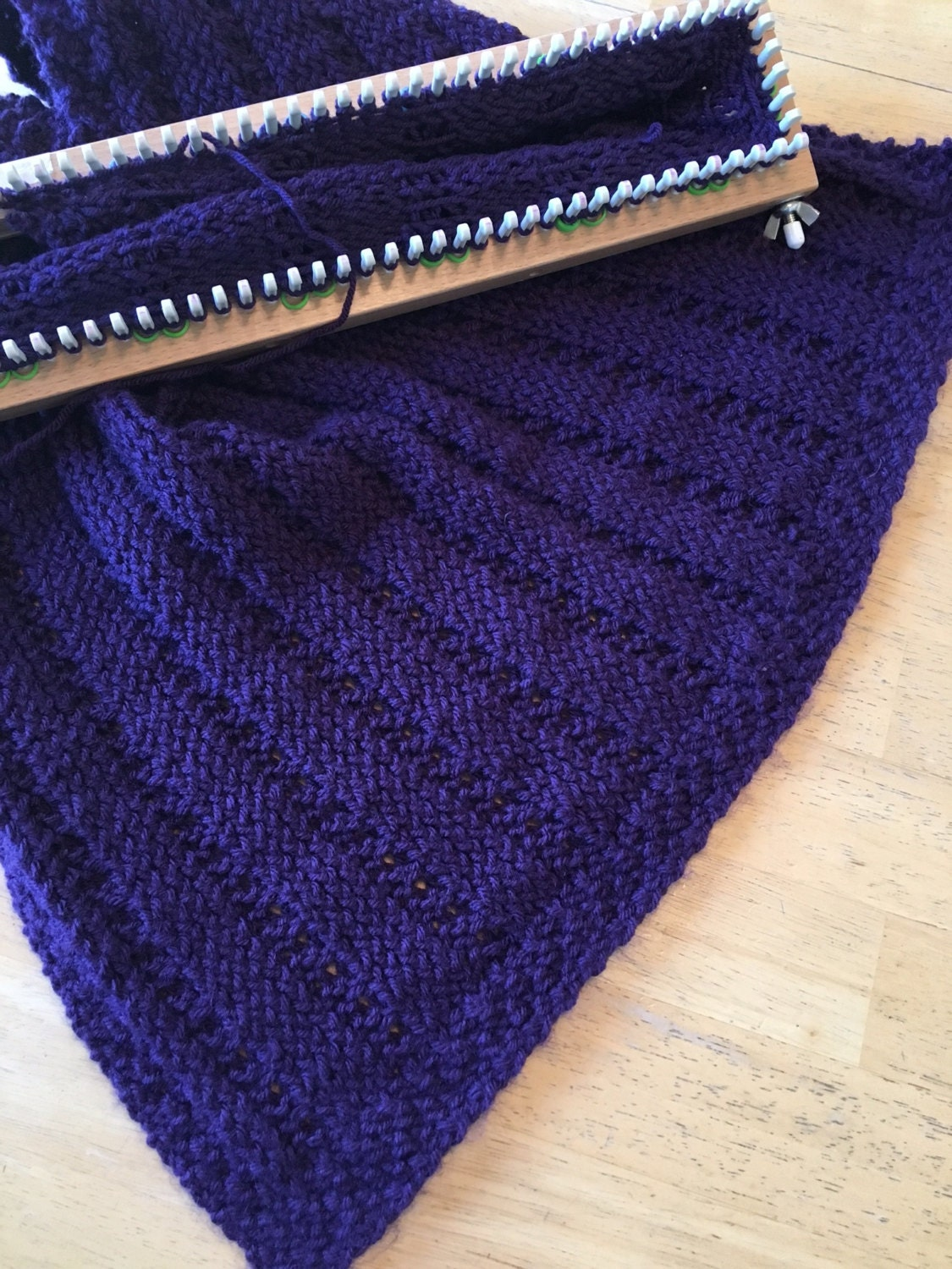 Resolutions Wrap - a loom knit pattern