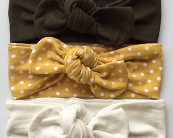 Starter Set : baby top knots headbands