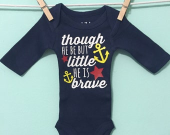 Little but brave -custom onesie - custom preemie