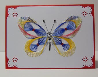 Butterfly Blue Greeting Card