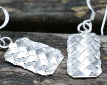 Silver Dangle Earrings, Sterling Silver Earrings, Silver Earrings, Dangle Earrings