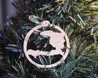 Haiti Wooden Christmas Tree Ornament