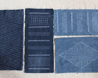 Sashiko / Recycle / Reuse / Remake / Old Jeans / Decorative cloth  / Simple