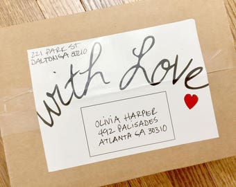 WITH LOVE Care Package Label Instant Download