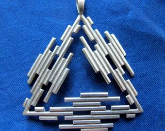 1970's Sterling Pyramid Pendant from Edinburgh Scotland ~ 9.6 Grams
