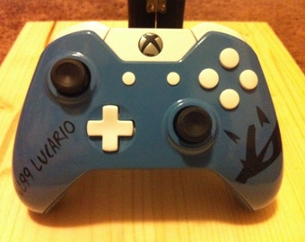 Custom Lucario Xbox One Wireless Controller 3.5mm