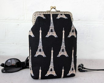 iPhone 7 Wallet case Two compartments, iPhone 6s wallet case, iPhone 7 Plus Wallet, Paris iPhone 7 wallet case, Wallet phone case, Gift mom