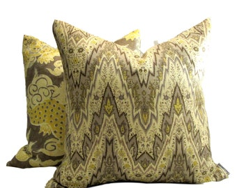 Williamsburg Collection Flamestitch Taupe Pillow Cover