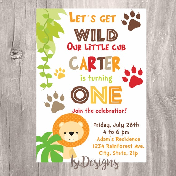 Jungle Safari Birthday Invitation Safari Birthday Printable Invite