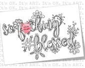 So F*cking #blessed - Adult Coloring SHEET - Adult Coloring Pages, Printable Coloring Page, Swear Word Colouring, Mature