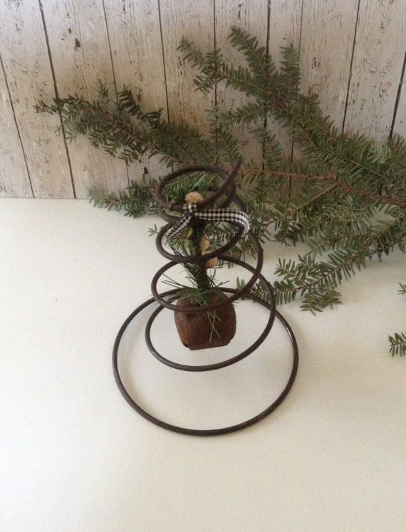 Antique bed spring decoration rusty bell by 1840vintagelane for Bed spring decoration