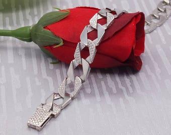 Mens Silver Link Bracelet, Mens Bracelet, Mens Jewellery, Mens Bracelet, Mens Jewellery, Mens Silver, sterling silver