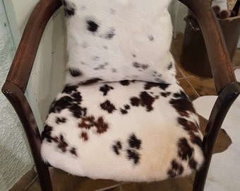 "cowhide chair, wooden armchair, cowhide seat, collection ""chosen chairs"""