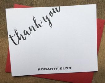 R+F Notecards | Rodan + Fields Thank You Cards | Letterpress | Blank A2 Stationary