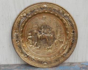 Vintage English Brass Horse Wall Decor!