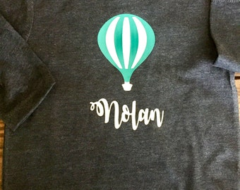 Hot Air Balloon shirts, onesies, dresses, bubble, gowns