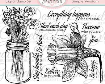Simple Wisdom - Digital Stamp Set