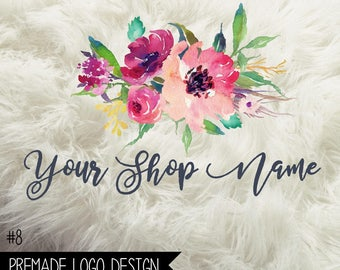 8. Premade Business Logo Digital File 300dpi PNG file, personalized with your shop name