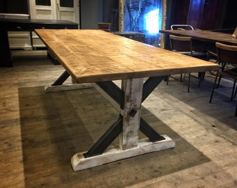 Rustic Industrial Reclaimed Union 7ft Frame Dining Table Steampunk