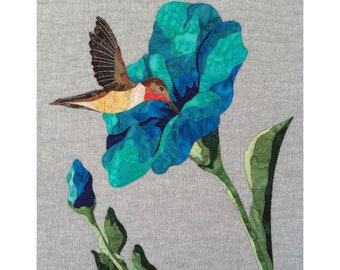 ART QUILT PATTERN with color photo instructions