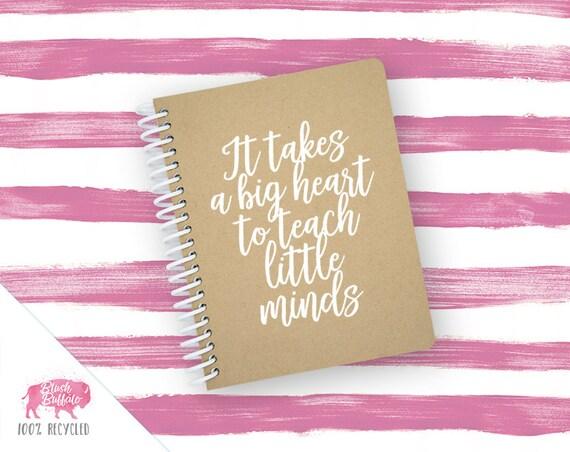 Spiral Notebook | Spiral Journal | Notepad | 100% Recycled | Big Heart to Teach Little Minds | BB074SM