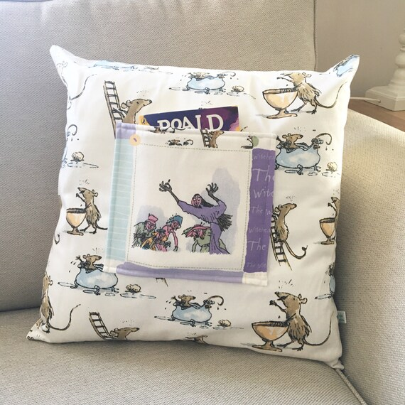 Items similar to pocket pillow witch cushion reading for Reading nook cushion