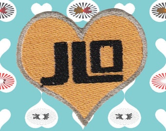 I Heart JLO Patch (Free Shipping)