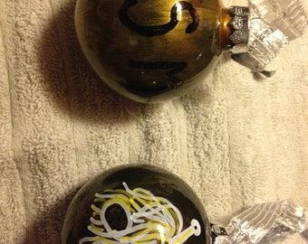 Flying Spaghetti Monster ornaments (set of 2)