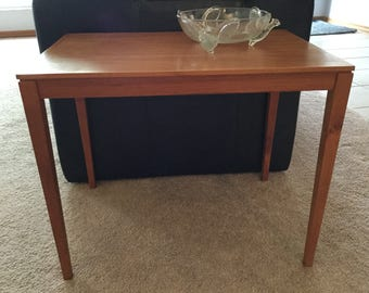 On Sale! 1960s Bent Silberg Mobler Denmark Teak Accent End Table