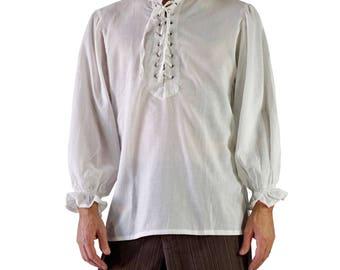 SUPER LIGHTWEIGHT SHIRT Off White -  Steampunk shirt, enaissance clothing, pirate costume, medieval clothing, viking shirt, tunic Zootzu